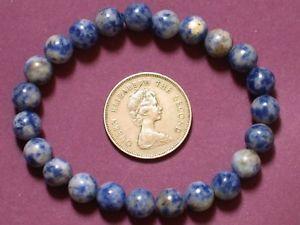 【送料無料】ブレスレット アクセサリ― ブレスレットソーダ8mmll01bracelet sodalite 8mm round beads stretch ll01