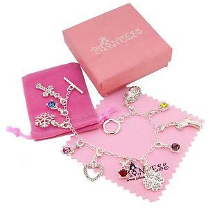 【送料無料】ブレスレット アクセサリ― シルバーキッドティーンエージャー11ブレスレットsilver plated 11 crystal charm bracelet for kid teen girls women fashion jewelry