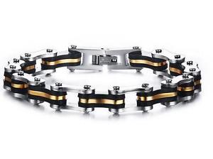 送料無料 ブレスレット アクセサリ― ステンレススチールメンズチェーンブレスレットfor friends gift stainless steel mens women bicycle chain bracelet 9mm 88Rjc5AqS3L4
