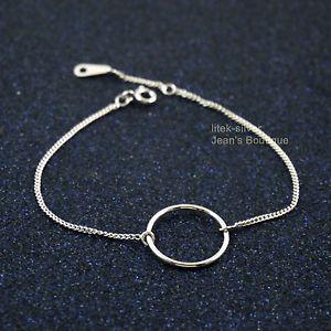 【送料無料】ブレスレット アクセサリ― 925 チェーンa2798スターリング925 sterling silver simple circle of life charm dainty chain bracelet a2798