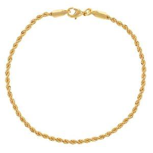 【送料無料】ブレスレット アクセサリ― 18kメッシュコードwomensブレスレット7518k gold plated mesh cord twisted braided womens bracelet 75