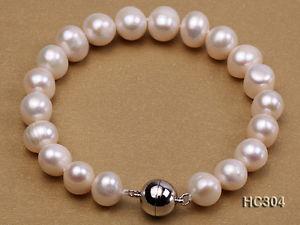 【送料無料】ブレスレット アクセサリ― ファッションホワイトラウンドブレスレットfashion 1011mm white round cultured freshwater pearl bracelet 75 gifts