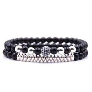 【送料無料】ブレスレット アクセサリ― ビーズジルコンスーツブレスレットnatural stone inlaid silvery bead zircon elastic force suit bracelet