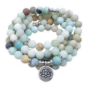 【送料無料】ブレスレット アクセサリ― ファッションマットマラビーズブレスレットfashion womens matte amazonite 108 mala beads bracelet best gift