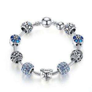 【送料無料】ブレスレット アクセサリ― シルバーアモールアモールブレスレットsilver love forever amor amour charm bracelet for women diy jewelry original bea