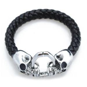 【送料無料】ブレスレット アクセサリ― ×パンクブレスレット5xman's alloy leather braided bracelet with skull punk c8a3