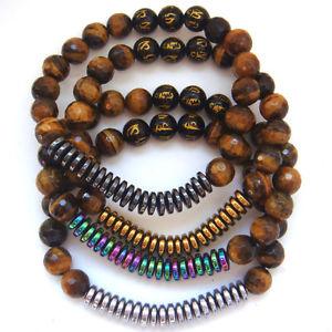 【送料無料】ブレスレット アクセサリ― ヘマタイトメノウエネルギーブレスレット2018 tiger eye gem stone hematite agate energy womens bracelet amulet