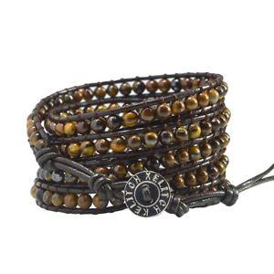 【送料無料】ブレスレット アクセサリ― ラップブレスレットタイガーアイビーズボヘミアンビーチハンドメイドブレスレット5 wrap bracelet tiger eye beads bohemian multilayers beach handmade bracelets