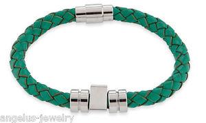 【送料無料】ブレスレット アクセサリ― ブレスレットスパイクライトグリーンステンレスalraune,leather bracelet spike ,light green,7 12in,stainless steel,104330