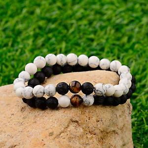 【送料無料】ブレスレット アクセサリ― タイガーアイブレスレットカップルチェーンストランドビーズtiger eye lava stone bracelets couple elastic chain friendship lover strand bead