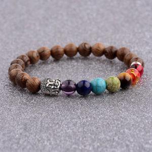 【送料無料】ブレスレット アクセサリ― ブレスレットチャクラヨガビーズビーズbracelet chakra meditation yoga men women buddhas beaded wooden friendship beads