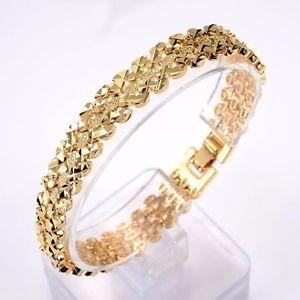 【送料無料】ブレスレット アクセサリ― イエローゴールドメンズレディースブレスレットチェーンリンク18k yellow gold filled menswomens bracelet 7811mm watch chain link gf jewelry