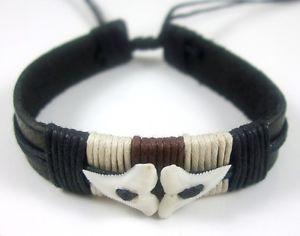 【送料無料】ブレスレット アクセサリ― サーファービーチレザーブレスレットカフgenuine mako shark tooth teeth surfer beach leather bracelet cuff 69 fa019a