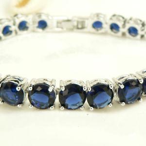 【送料無料】ブレスレット アクセサリ― ラウンドジュエルkホワイトゴールドグランプリブレスレットblue quartz crystal round jewel 18k white gold gp noble bracelet