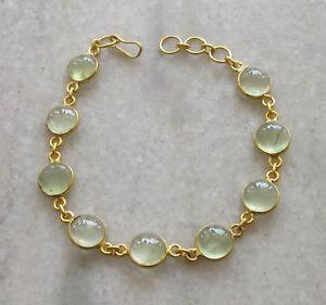 【送料無料】ブレスレット アクセサリ― ラウンドカボションファッションブレスレットnatural aaa green prehnite round cabochon gemstone gold plated fashion bracelet