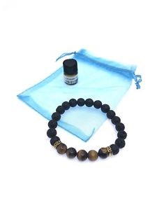 【送料無料】ブレスレット アクセサリ― タイガーアイヒーリングブレスレットtiger eye healing natural lava stone with essential oil bracelet