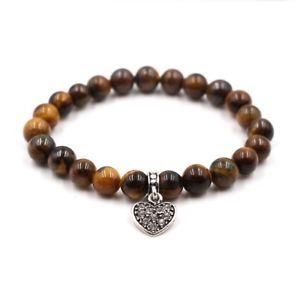 【送料無料】ブレスレット アクセサリ― ペンダントjewelriesnatural lava stone bracelets lovers heart pendant bracelet women charm jewelries