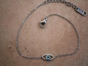 【送料無料】ブレスレット アクセサリ― hi quality greek evil eye stainless steelcrossheart bracelet bluehi quality greek evil eye stainless steel silver cross or
