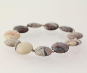 【送料無料】ブレスレット アクセサリ― ジャスパースターリングシルバービーズブレスレットファッション jasper amp; sterling silver bead bracelet 925 womens fashion brown stones