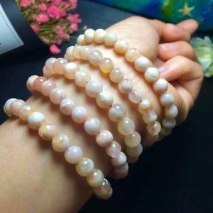 【送料無料】ブレスレット アクセサリ― チェリーピンクビードブレスレットnatural cherry pink agate gemstone beads bracelet aaa 7565mm