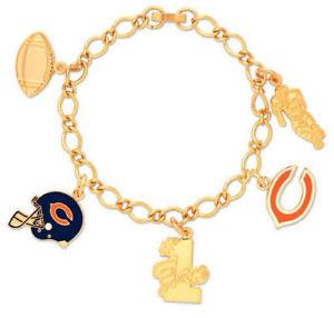 【送料無料】ブレスレット アクセサリ― wincraft nflシカゴベアーズブレスレットwincraft nfl chicago bears bracelet with charms clamshell