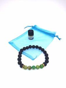 【送料無料】ブレスレット アクセサリ― キングgreen king stone healing natural lava stone with essential oil bracelet
