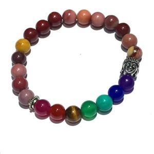 【送料無料】ブレスレット アクセサリ― チャクラヒーリングビーズブレスレットブレスレット7 chakra healing beaded bracelet mookaite gemstone bracelet jewelry