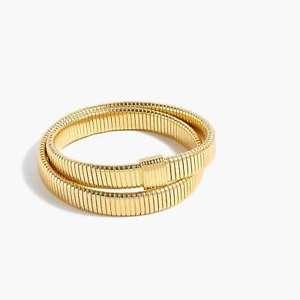 【送料無料】ブレスレット アクセサリ― ダブルストレッチブレスレットゴールドストレッチj crew double stretch bracelet, nwt, gold, stretch