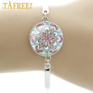 【送料無料】ブレスレット アクセサリ― ブレスレットas fr38851 bracelet fleur de lotus colore femmes breloques en verre alliage zin