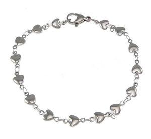 【送料無料】ブレスレット アクセサリ― ブレスレットレアムールas fr37260 bracelets pour les femmes en acier inoxydable coeur chaine amour met