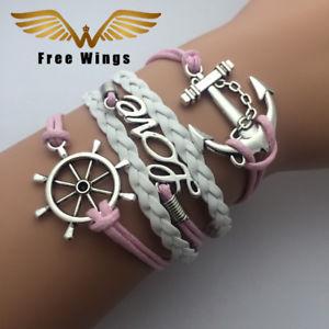 【送料無料】ブレスレット アクセサリ― バラブレスレットアムールレas fr38989 ailes roses corde dancre bracelets damour pour les femmes en allia