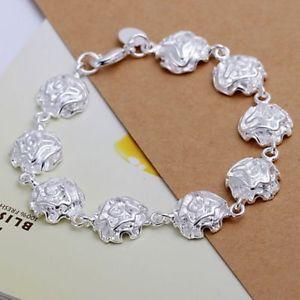 【送料無料】ブレスレット アクセサリ― アルジェントプラークフィンブレスレットメタルローズas fr38300 bijoux en argent plaque fin rose bracelet fleur smth135 chaine metal