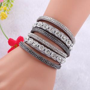 【送料無料】ブレスレット アクセサリ― デクリスタルブレスレットas de34028 alloy mehrschichtige kristall fur deauen zink metall charm bracelets