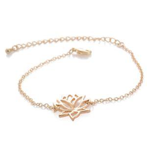 【送料無料】ブレスレット アクセサリ― クラシックロータスブレスレットデas fr34629 forme classique lotus bracelets de femmes elegantes en alliage zinc