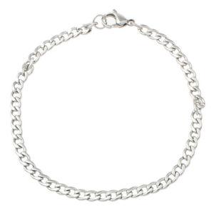 【送料無料】ブレスレット アクセサリ― メンズレディースブレスレットアルジェントトレンディsm fr82674 mens womens acier inoxydable bracelet gourmette argent trendy