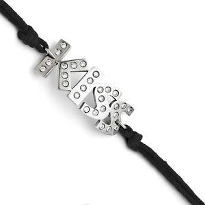 【送料無料】ブレスレット アクセサリ― ステンレススチールブレスレットキスstainless steel cz kiss with 175ext bracelet