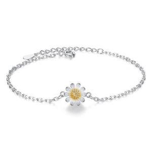 【送料無料】ブレスレット アクセサリ― レディーススターリングシルバーデイジーブレスレットladies women s925 sterling silver small daisy bracelet