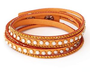 【送料無料】ブレスレット アクセサリ― ラインストーンブラウンラップブレスレットホワイトブレスレット wrap bracelet with rhinestones mustardbrown beaded white bracelet