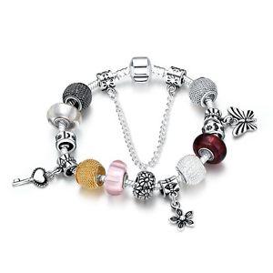 【送料無料】ブレスレット アクセサリ― レディースブレスレットブレスレットビーズスターリングシルバーwomens bracelet charm bracelet beads charms 20cm pl with sterling silver pdrh 005b