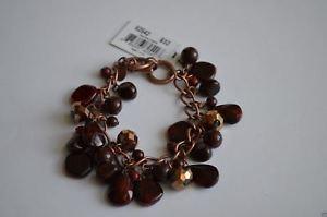 【送料無料】ブレスレット アクセサリ― クッキーダークレッドビーズブレスレットインチアジャスタブルcookie lee vivi dark red bead bracelet 7  8 adjustable nwt nos