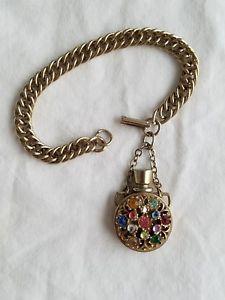 【送料無料】ブレスレット アクセサリ― ラインストーンボトルブレスレットヴィンテージブレスレットvtg rhinestone bottle bracelet, vintage bracelet