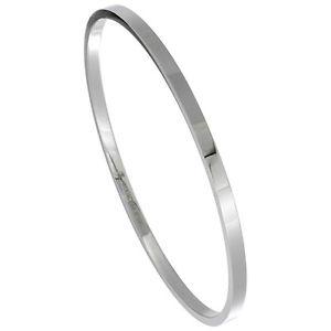 【送料無料】ブレスレット アクセサリ― ステンレスメタルブレスレットスチール3 mm stainless steel low pull on rigid bracelet measures 178cm 203cm