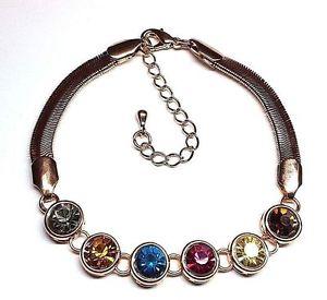 【送料無料】ブレスレット アクセサリ― ガラスローズゴールドブレスレットエクステンダーチェーンmulticolored glass rose goldfinished 712 bracelet w 214 extender chain