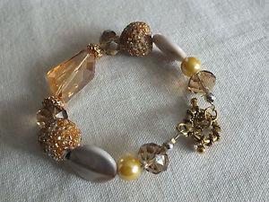 【送料無料】ブレスレット アクセサリ― beautifuトグルブレスレット34x 8nicebeautifu toggle clasp bracelet gold tone chunky beads 34 wide x 8 long nice