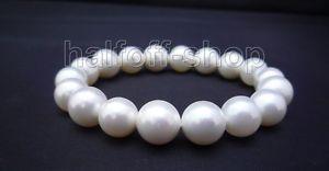 【送料無料】ブレスレット アクセサリ― ラウンドホワイトシェルパールブレスレットperfect natural 100 aaa round white shell pearl bracelet 75