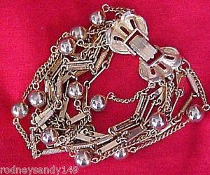 【送料無料】ブレスレット アクセサリ― ゴールドトーンスタンドビーズブレスレットbeautiful gold tone 10 stands beads bracelet