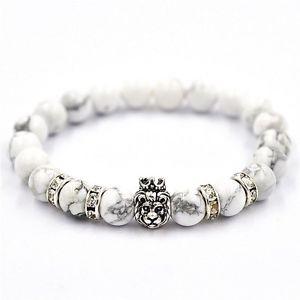 【送料無料】ブレスレット アクセサリ― ライオンビーズエネルギーgemstone bracele natural stones lion beaded charm energy for mens womens