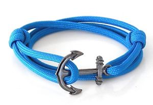 【送料無料】ブレスレット アクセサリ― アンカーブレスレットジュエリーアメリカanchor bracelet nautical paracord men women fashionvintage jewelry handmade usa