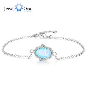 【送料無料】ブレスレット アクセサリ― オパールブレスレットチェーンスターリングシルバーテニスブレスレットpalm blue fire opal bracelets chain sterling silver party gift tennis bracelet
