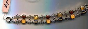 【送料無料】ブレスレット アクセサリ― ニューlistingmonet carmel stone bracelet nwt listingmonet carmel stone bracelet nwt